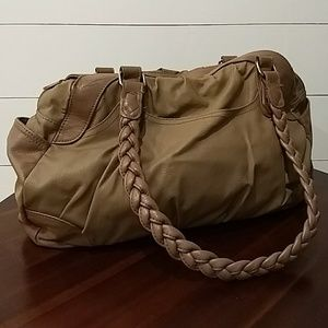 H&M brown faux leather purse